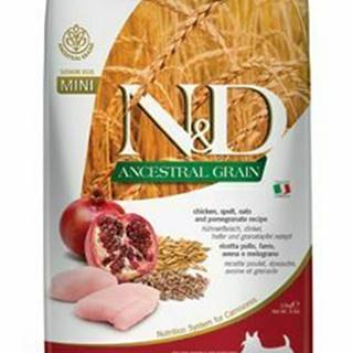 N&D LG DOG Senior Mini Chicken & Pomegranate 2,5kg